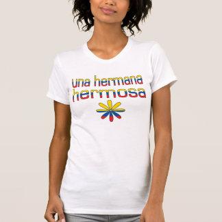 Una Hermana Hermosa Ecuador Flag Colors T Shirt