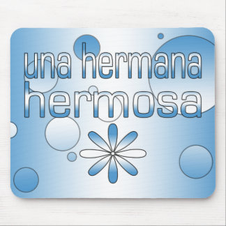 Una Hermana Hermosa Guatemala Flag Colors Pop Art Mouse Pad