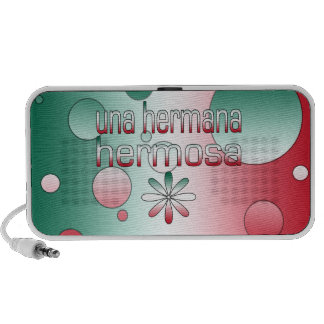 Una Hermana Hermosa Mexico Flag Colors Pop Art iPod Speaker