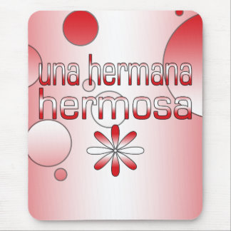 Una Hermana Hermosa Peru Flag Colors Pop Art Mouse Pad