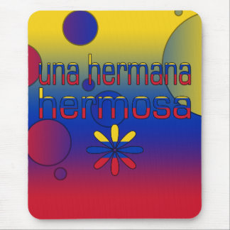 Una Hermana Hermosa Venezuela Flag Colors Pop Art Mouse Pad