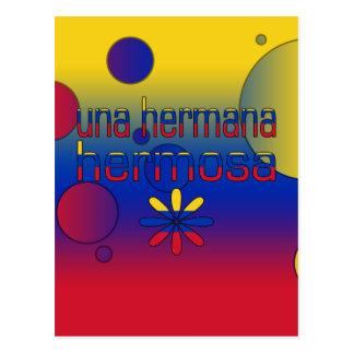 Una Hermana Hermosa Venezuela Flag Colors Pop Art Postcard