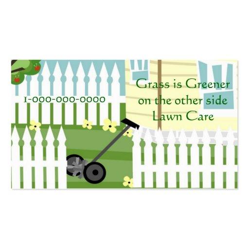 Una hierba más verde tarjetas de visita