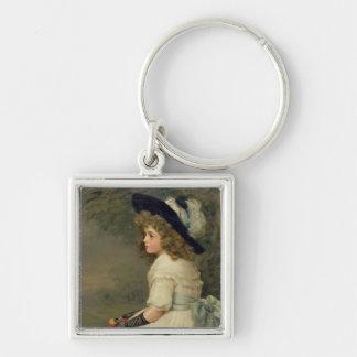 Una hija de Eve, peras publicación anual, navidad, Llavero Cuadrado Plateado