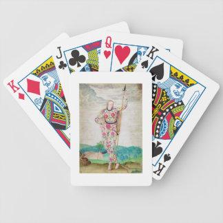 Una hija joven del Picts, c.1585 (w/c y gou Baraja Cartas De Poker