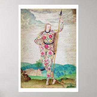 Una hija joven del Picts, c.1585 (w/c y gou Póster