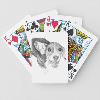 Una historia a decir, un perrito del beagle baraja de cartas bicycle