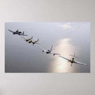 Una historia de aviones de combate póster