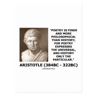 Una historia más filosófica más fina de la poesía tarjetas postales