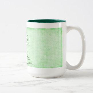 Una hoja abstracta 4 taza de dos tonos