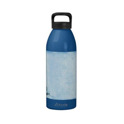Una hoja abstracta 5 botella de beber