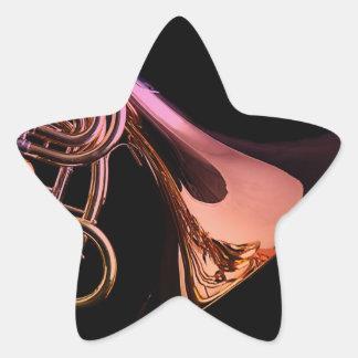Una hoja de los pegatinas de la trompa colcomanias forma de estrellaes personalizadas