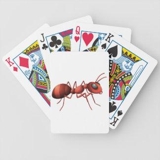 Una hormiga baraja de cartas