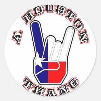 Una Houston Thang Pegatinas Redondas