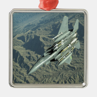 Una huelga Eagle de la fuerza aérea de los Adorno Navideño Cuadrado De Metal