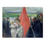 Una huelga en Santo-Ouen, 1908 Tarjeta Postal