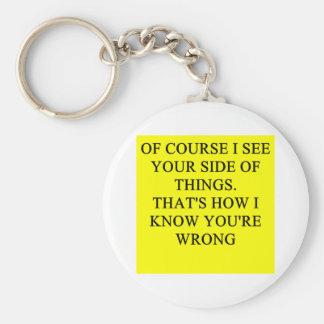 una idea divertida del divorcio para usted llavero redondo tipo pin