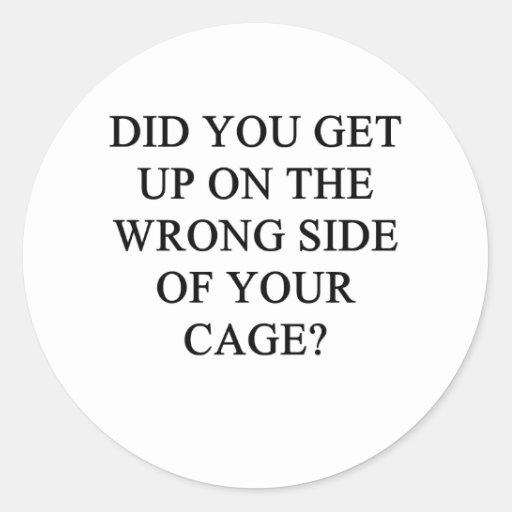 una idea divertida del divorcio para usted etiquetas redondas