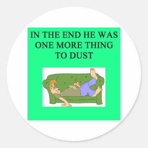 una idea divertida del divorcio para usted pegatina redonda