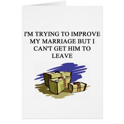 ¡una idea divertida del divorcio para usted! tarjetas