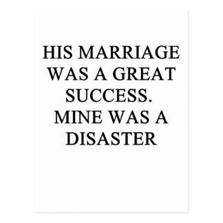 ¡una idea divertida del divorcio para usted! tarjetas postales