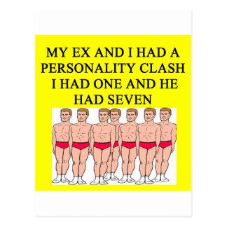 una idea divertida del divorcio para usted tarjetas postales