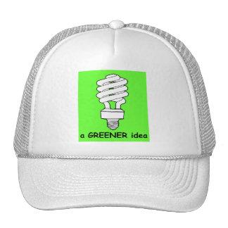 Una idea más verde gorras de camionero
