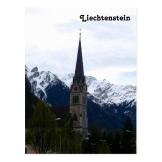 Una iglesia en Vaduz, Liechtenstein Postales