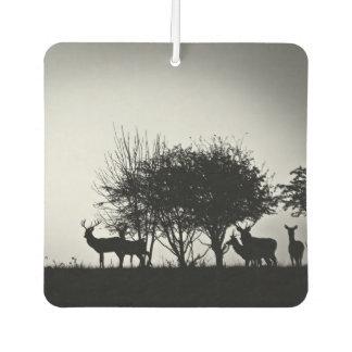 Una imagen de algunos ciervos en la niebla de la