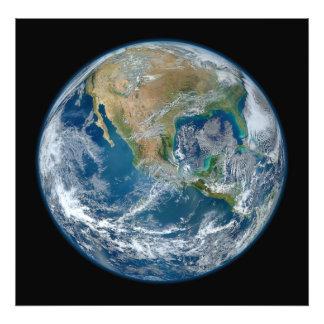 Una imagen de mármol azul de la tierra del planeta foto