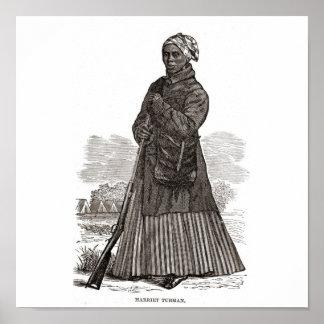 Una imagen del grabar en madera de Harriet Tubman, Póster