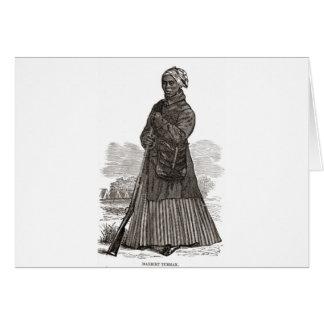 Una imagen del grabar en madera de Harriet Tubman Tarjetas