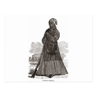 Una imagen del grabar en madera de Harriet Tubman, Postal
