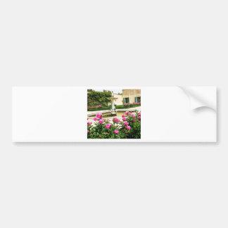 Una imagen divina de la rosaleda pegatina para auto