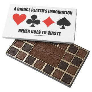 Una imaginación del jugador de puente nunca va a caja de bombones variados con 45 piezas