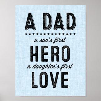 Una impresión de la tipografía del papá póster