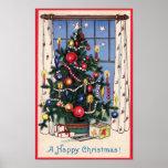 Una impresión del poster de las felices Navidad de