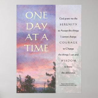 Una impresión del poster del rezo de la serenidad