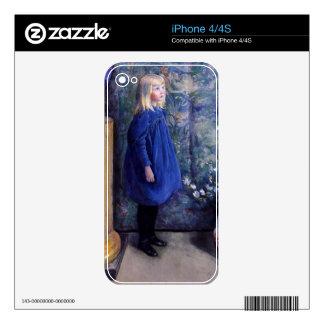Una in Blue Dress iPhone 4 Skins