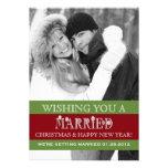 Una invitación casada del navidad