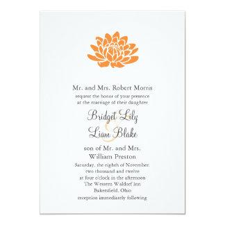 Una invitación del boda de la flor de Lotus Invitación 12,7 X 17,8 Cm