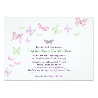 Una invitación del boda del alboroto del corazón