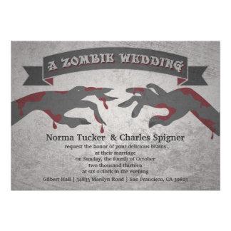 Una invitación del boda del zombi