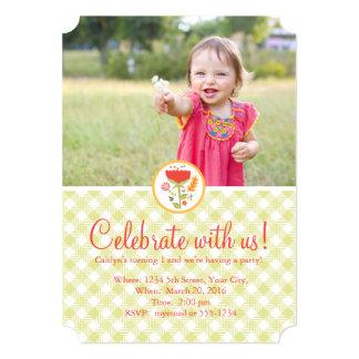 Una invitación del chica del cumpleaños del año