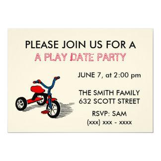 Una invitación del fiesta de la fecha del juego invitación 12,7 x 17,8 cm