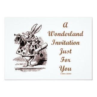 Una invitación del país de las maravillas apenas invitación 12,7 x 17,8 cm