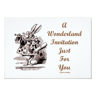 Una invitación del país de las maravillas apenas invitación 8,9 x 12,7 cm