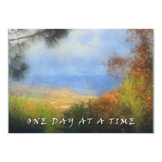 Una invitación del valle del arco iris del día a invitación 12,7 x 17,8 cm