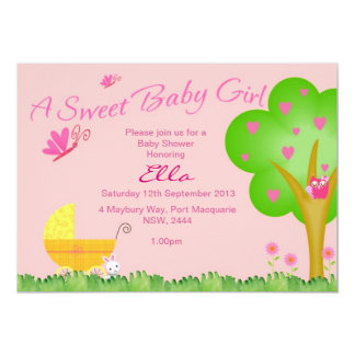 Una invitación dulce de la fiesta de bienvenida al invitación 12,7 x 17,8 cm