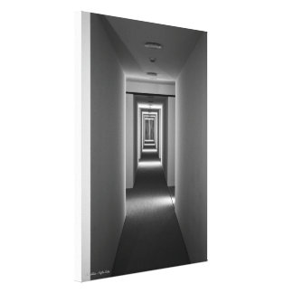 Una invitación, estudio arquitectónico de la bella lienzo envuelto para galerías